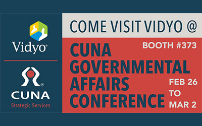 Visit Vidyo at the 2017 CUNA Governmental Affairs Conference